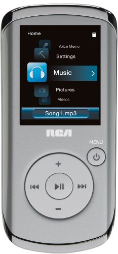 RCA M4102 2 GB Digital Media Player/FM Radio with Voice Recording (Silver)