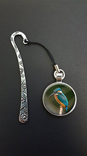 kingfisher-bird-pendant-on-a-silver-coloured-metal-design-bookmark-ideal-birthday-gift-n110