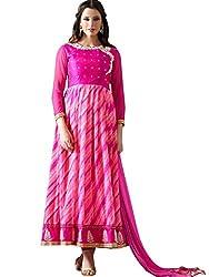 Beautiful Lehriya Print Anarkali Suit by Kmozi