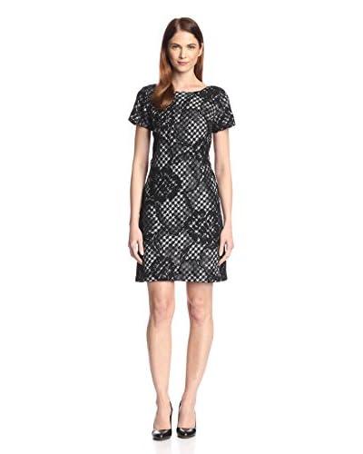 Donna Ricco Women's Lace Overlay Tweed Dress