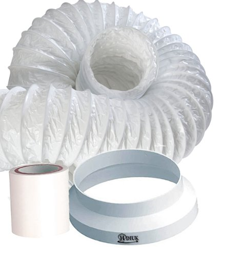 HDIUK 3m Portable Air conditioner Exhaust duct hose extension kit, Increase the length of your existing flexible hose