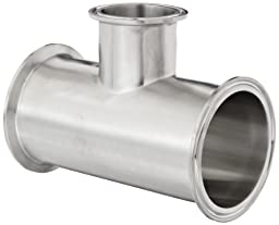 Dixon B7RMP-G300200 Stainless Steel 304 Sanitary Fitting, Reducing Clamp Tee, 3\