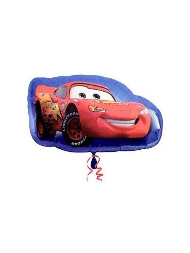 """Cars Lightning McQueen Shape Giant 17"""" Foil Balloon"""