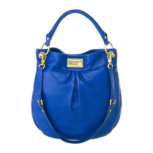 1214095adc NWT Marc By Marc Jacobs Classic Q Hillier Leather Hobo Bag Meteorite Blue