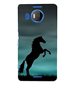 Shadow Jumping Horse 3D Hard Polycarbonate Designer Back Case Cover for Nokia Lumia 950 XL :: Microsoft Lumia 950 XL