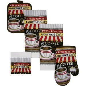Amazon.com - New 7 PIECE COFFEE DESIGN KITCHEN TOWEL SET - Kitchen