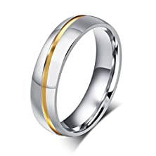 buy Mens Stainless Steel Couple Ring Cz Cubic Zirconia Promise Engagement Wedding Band,Silver,Size 11