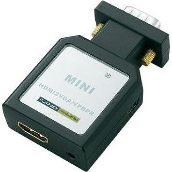 Adaptateur HDMI, VGA SpeaKa Professional 989351 [1x HDMI femelle => 1x VGA mâle, Jack femelle 3.5 mm, Toslink femelle (O