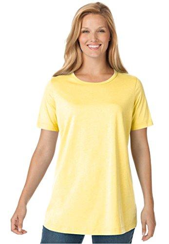 Women's Plus Size Top, Perfect Crewneck Tee In Soft Cotton Knit (Banana,6X)