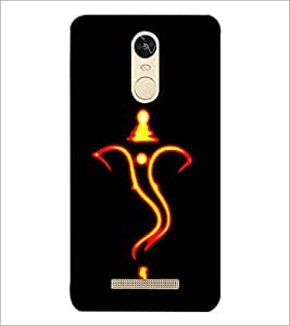 PrintDhaba Lord Ganesha D-1260 Back Case Cover for XIAOMI REDMI NOTE 3 (Multi-Coloured)