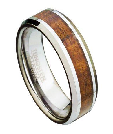 Polished Tungsten Wedding Bands 43 Elegant Men us mm Comfort
