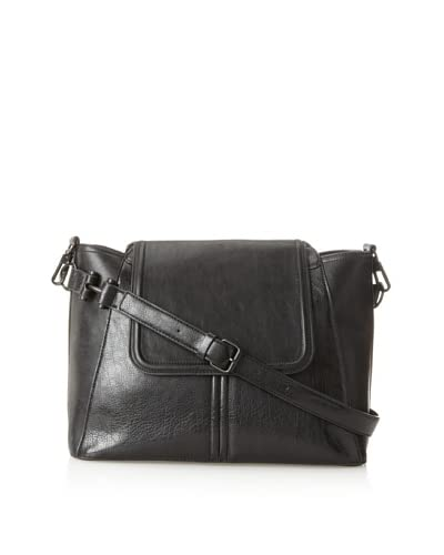 French Connection Women's Flap Cross-Body  [Black]