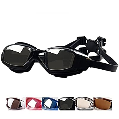 Eforstore Swimming Goggles Adult Waterproof Anti-fog Uv Protection Swim Goggles Adjustable Glasses Diving Mask for Men Women Water Sports
