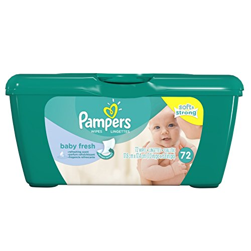 Pampers Baby Fresh Wipes Tub 72 Ea (Pack of 3) - 1
