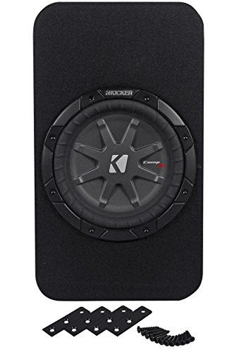 """Kicker 40Tcwrt84 8"""" 800 Watts Peak/400 Watts Rms 4-Ohm Tcomprt8 Slim Profile Enclosed Subwoofer With Double Venting For Maximum Cooling"""
