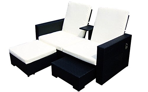 baidani doppelliege honeymoon rattan schwarz g nstig kaufen. Black Bedroom Furniture Sets. Home Design Ideas