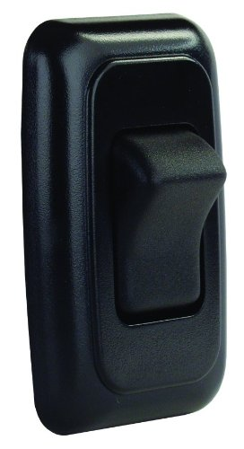 Jr Products 12225 Black Single Spst On-Off Switch With Bezel front-24730