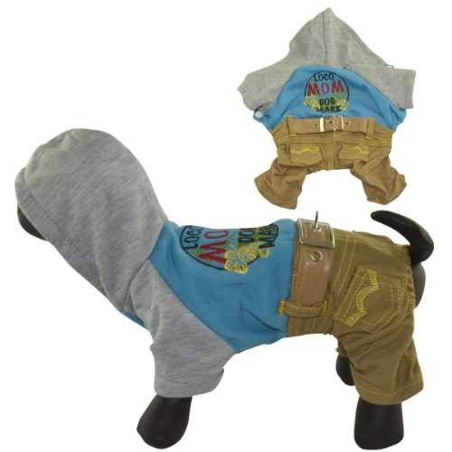 Dogloveit Pet Puppy Cat Dog Clothes Cow Boy Style Dog Hoodie Warm Clothes For Puppy And Small Dog Cat front-1052571