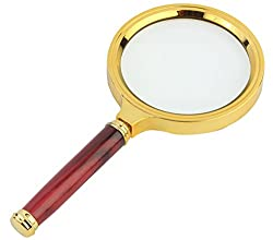 7TREES Antique Handheld Magnifier Magnifying Glass, 3X / 80mm