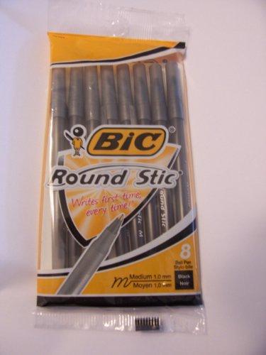 Bic Round Stic ~ Set of 8 Pens (070330184343)