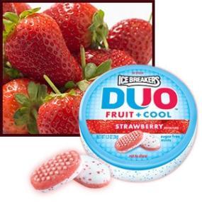 Ice Breakers Duo Strawberry Mints