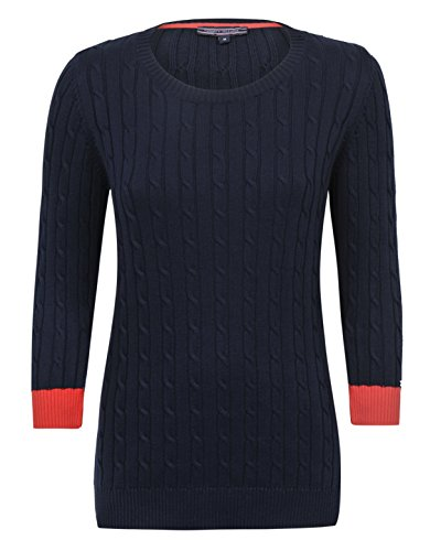 Tommy Hilfiger felpa Pullover da donna New Pandy Mini, item no. t4501h1932 blu navy XL/48