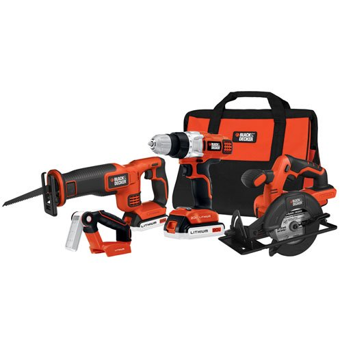 Black & Decker Bdcd2204Kit 20-Volt Max Lithium-Ion 4-Tool Combo Kit