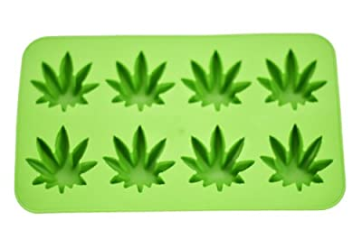 Fairly Odd Novelties Novelty Gag Gift Cannabis Marijuana Pot Leaf Shape Stoner Ice Cube Tray Mold