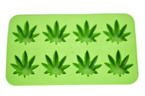 Fairly Odd Novelties Novelty Gag Gift Cannabis Marijuana Pot Leaf Shape Stoner Ice Cube Tray Mold