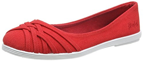 BlowfishGummie - Ballerine donna, Rosso (Red (Red Canvas)), 40 EU (7 UK)