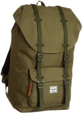 herschel rucksack laptoprucksack 15 zoll little america gr n army rubber bekleidung. Black Bedroom Furniture Sets. Home Design Ideas