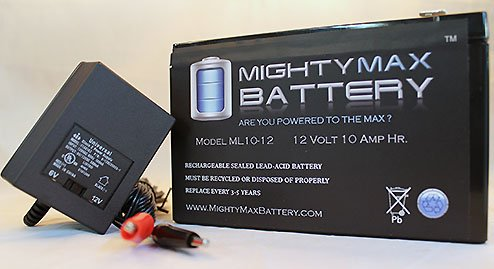 Ml10-12 12V 10Ah Replaces Razor Bella Scooter Battery + 12V Charger
