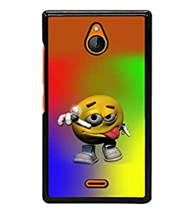 printtech Smiley Face Colored Back Case Cover for Nokia X2 RM-1013, Nokia X2DS