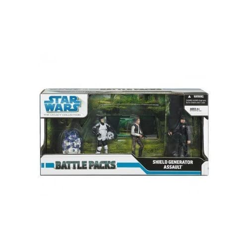 Star Wars Clone Wars Exclusive Action Figure Battle Pack Assault on the Shield Generator by Hasbro (English Manual)