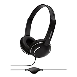 Groov-e GV897/BK Streetz Fashionable Headphones with Volume Control - Black