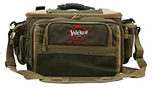 Wicked Gear Worm Binder Combo Bag with 4 TIS 1400 boxes (Green Tan) by Wicked Gear