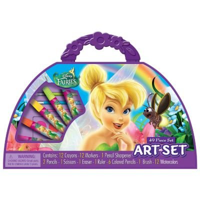 Disney Fairies 1/2 Moon 49 piece Art Set