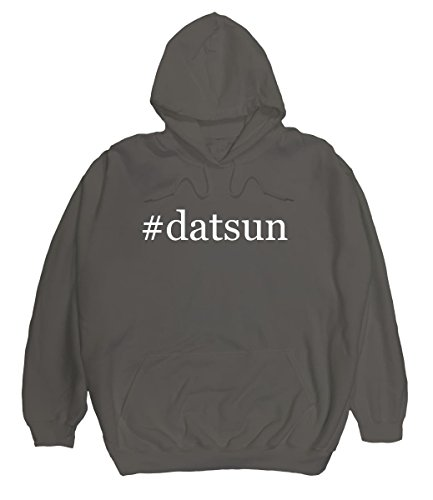 #datsun - Men's Hashtag Pullover Hoodie, Grey, X-Large (Datsun Hoodie compare prices)