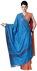 Shawls Of Kashmiri Women's Shawl (Blue, L)