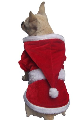 New Arrival FREEDOGS Fashion Pet Holiday Outfit Dog Puppy Christmas Santa Jumper Suit Fancy Party Costumes Red Size XXL