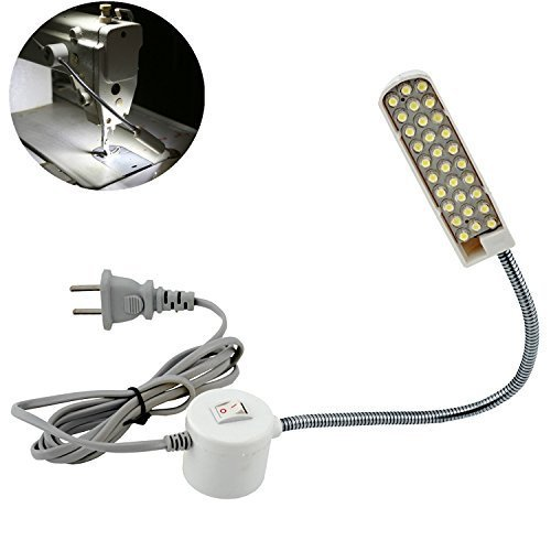 Bonlux LED Sewing Machine Light Working Gooseneck Lamp 30 Leds, with Magnetic Mounting Base for Home or Sewing Machine (30 LEDs) (Led Lights For Sewing Machines compare prices)