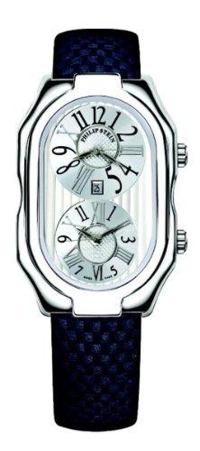 Philip Stein - 12-VW-MMN - Montre Mixte - Quartz Analogique - Cadran Blanc - Bracelet Cuir Noir