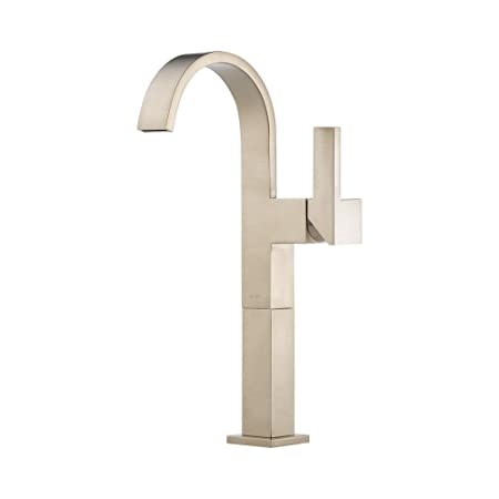 Brizo 65480LF-BN Siderna Single Hole Bathroom Faucet, Brushed Nickel