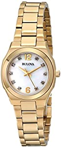 Ladies Bulova Diamond Gallery Watch 97P109