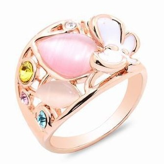 K-Design Alloy High-End Fashion Fine Ring Personality Simple Jewelry Popular Rhinestone Ring 18K Gold Plated Finger Rings For Women