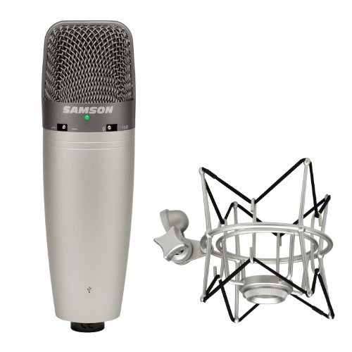 Samson C03U Multi-Pattern Usb Studio Condenser Microphone With Sp01 Shock Mount Kit