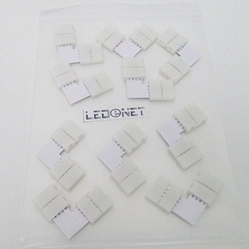 Ledenet® 10Pcs 4Pin L Shape Corner Connector Right Angle Conductor For 10Mm 5050 Smd Rgb Led Flexible Strip To Strip