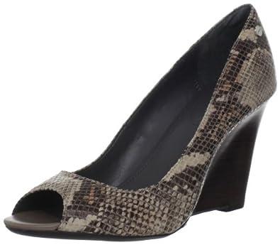 Calvin Klein Women's Callie Patent Snake Print Peep-Toe Pump | Amazon