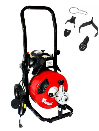 XtremepowerUS Commercial Sewer Snake Drain Auger Cleaner 50 Ft Long 1/2
