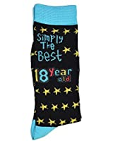 Simply The Best 18 Year Old Socks, Birthday, Anytime Gift / Present